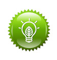Green Symbols Lamp vector image