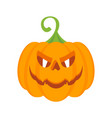 halloween party pumpkin character with burning vector image vector image