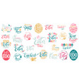 happy easter big lettering set vector image