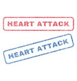 heart attack textile stamps vector image vector image
