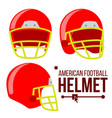 helmet american football classic red rugby vector image