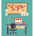 Home office for freelancer vector image vector image