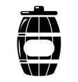 honey barrel icon simple style vector image vector image