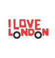 I love London t-shirt design logo graphic vector image vector image