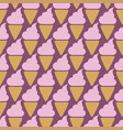 ice cream cone seamless pink pattern background vector image