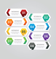 Infographics design geometric template banner vector image vector image