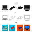 isolated object of laptop and device sign vector image