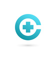 Letter C cross plus logo icon design template vector image vector image