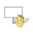 mango character cartoon mascot bring board vector image vector image
