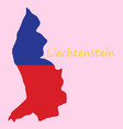 map outline country shaped and flag of vector image vector image
