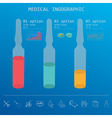 Medical and healthcare infographic elements for vector image vector image
