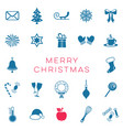 merry christmas card with christmas signs vector image vector image