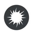 Monochrome round starburst icon vector image vector image