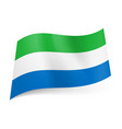 national flag of sierra leone green white and vector image vector image