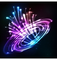 Neon lights cosmic explode vector image vector image