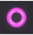 Neon mosaic circle vector image vector image