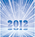 new year 2012 numbers with fireworks and rays l vector image vector image