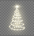 new year tree silhouette made of christmas lights vector image vector image