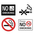 no smoking icon set simple style vector image