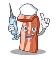 nurse bacon character cartoon style vector image vector image