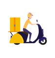 online delivery service concept delivery to home vector image vector image