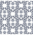 ornamental black and white roses background vector image vector image