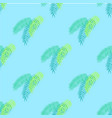 palm leaves collection pattern vector image