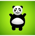 Panda cartoon character vector image