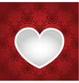 Paper cut card template with heart vector image