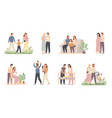 parents and children young family with little vector image vector image