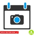 Photo Camera Calendar Day Eps Icon vector image vector image