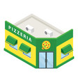 pizzeria building icon isometric style vector image vector image