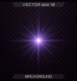 purple glowing light vector image