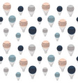 retro air balloons seamless pattern colorful vector image