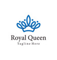 royal queen crown logo and icon design vector image vector image