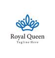 royal queen crown logo and icon design vector image