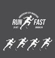 running logo marathon concept sport activities vector image vector image
