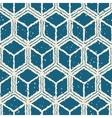 Seamless Hand Drawn Cube Shape Grunge Retro vector image vector image