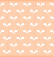seamless white lace pattern on neige background vector image