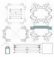 Set of holiday decorative elements in retro style vector image vector image