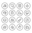 set round line icons of laundry vector image vector image