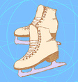 Sketch skating shoes in vintage style vector image vector image