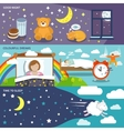 Sleep time banners vector image vector image