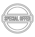 Special offer circle label icon outline style vector image vector image