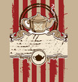 tea menu with teapot vector image vector image