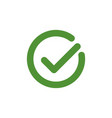 tick sign element green checkmark icon isolated vector image