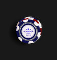 top view of casino chips isolated on black vector image vector image