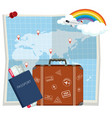 travel element on map vector image vector image
