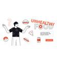 unhealthy food - modern flat design style web vector image