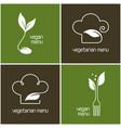 vegetarian menu icons vector image